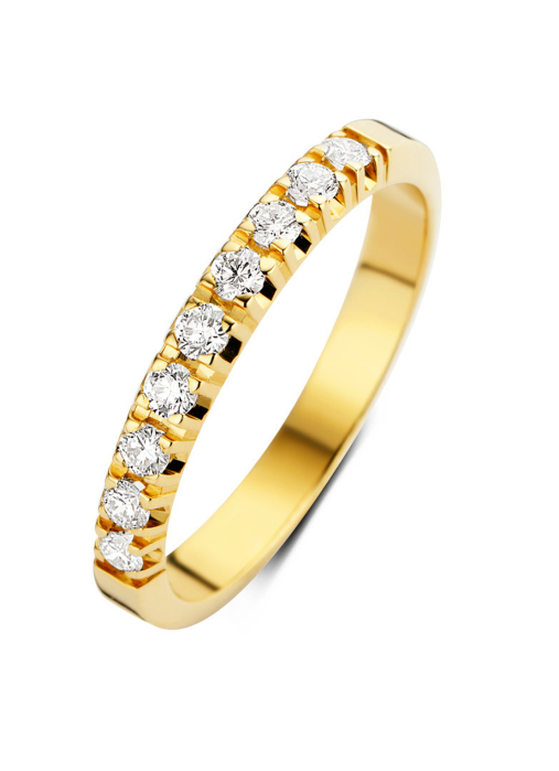 Diamond Point Groeibriljant eternity ring in 18 karat yellow gold, 0.27 ct.