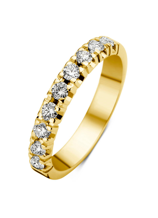 Diamond Point Groeibriljant eternity ring in 18 karat yellow gold, 0.45 ct.
