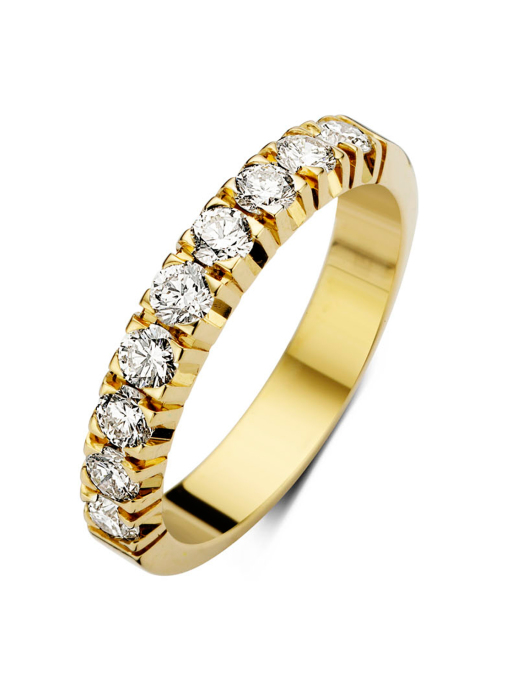Diamond Point Groeibriljant eternity ring in 18 karat yellow gold, 0.63 ct.