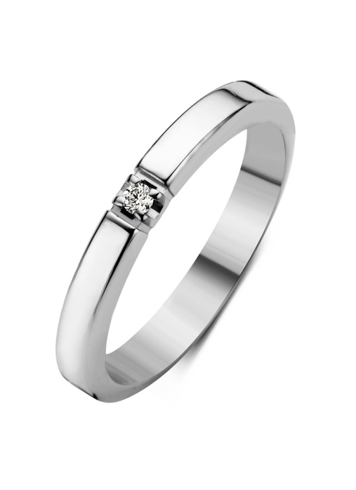 Diamond Point Groeibriljant eternity ring in 18 karat white gold, 0.02 ct.