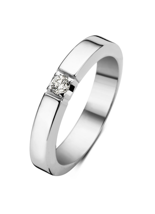 Diamond Point Groeibriljant eternity ring in 18 karat white gold, 0.10 ct.