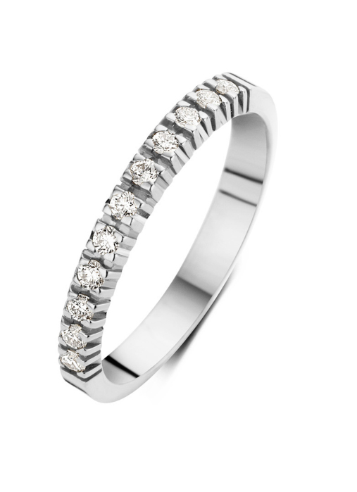 Diamond Point Groeibriljant eternity ring in 18 karat white gold, 0.22 ct.