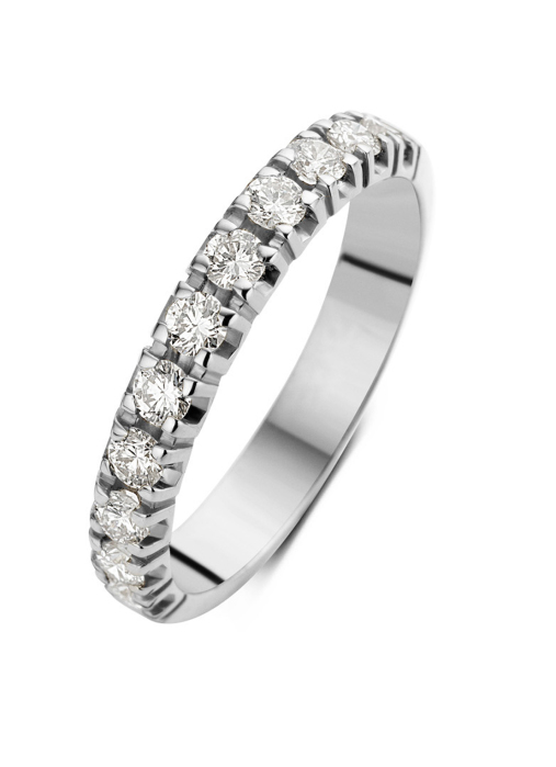 Diamond Point Groeibriljant eternity ring in 18 karat white gold, 0.55 ct.