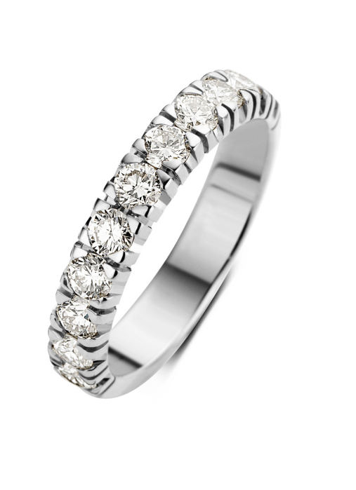 Diamond Point Groeibriljant eternity ring in 18 karat white gold, 0.77 ct.