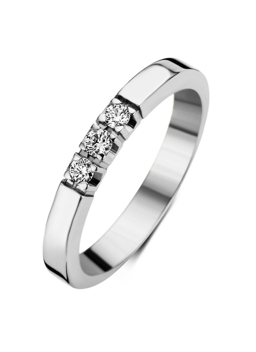Diamond Point Groeibriljant eternity ring in 18 karat white gold, 0.15 ct.