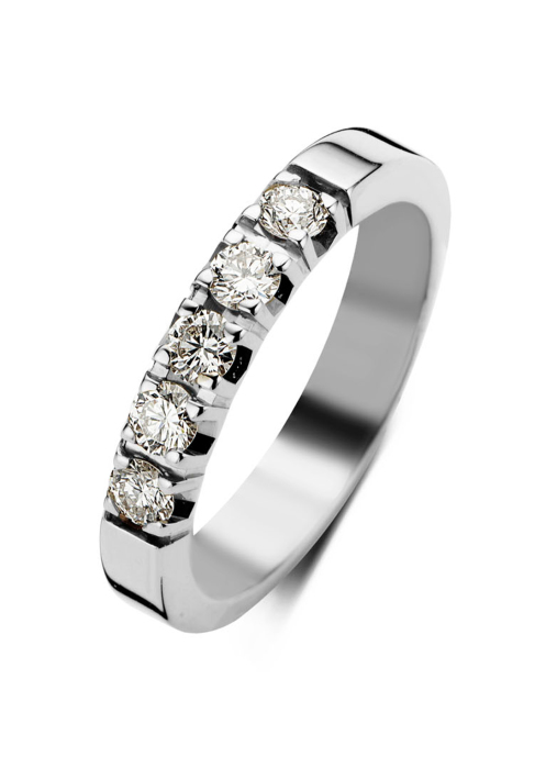 Diamond Point Witgouden alliance groeibriljant ring, 0.35 ct. 0.35 ct diamant Groeibriljant