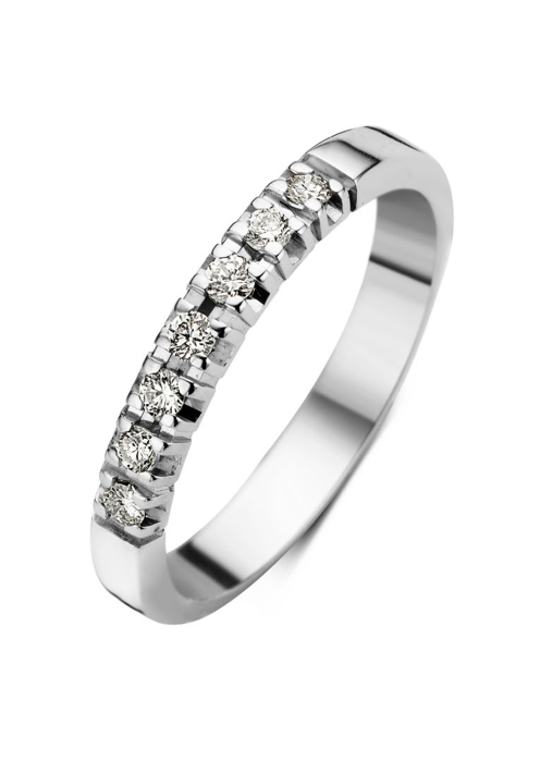 Diamond Point Witgouden alliance groeibriljant ring, 0.21 ct. 0.21 ct diamant Groeibriljant