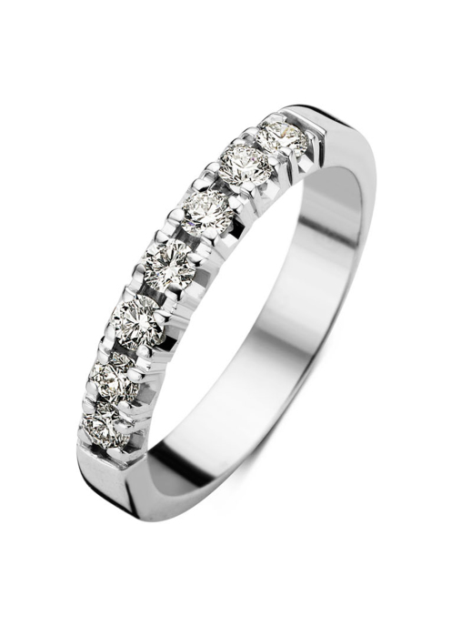 Diamond Point Witgouden alliance ring, 0.35 ct diamant, Groeibriljant