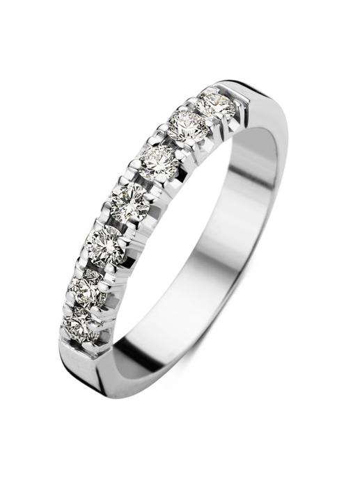 Diamond Point Witgouden alliance groeibriljant ring, 0.35 ct. 0.35 ct diamant Groeibriljant
