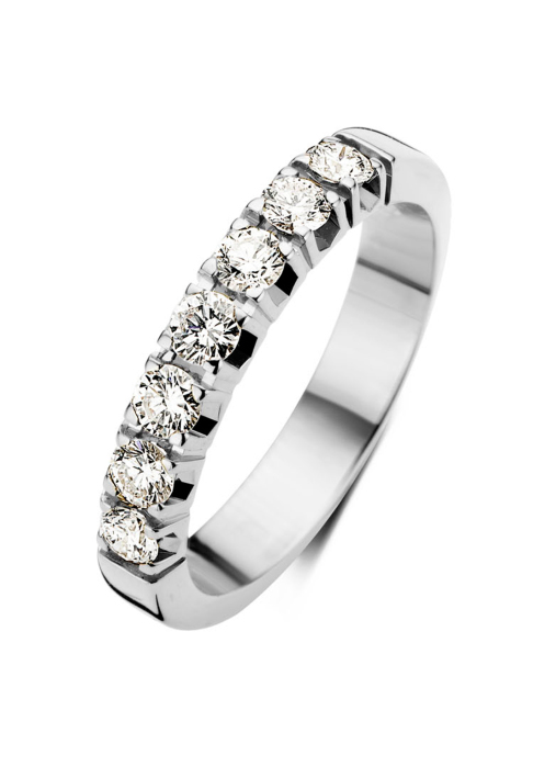 Diamond Point Groeibriljant eternity ring in 18 karat white gold, 0.70 ct.