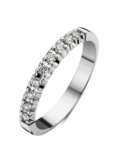Diamond Point Witgouden alliance ring, 0.18 ct diamant, Groeibriljant