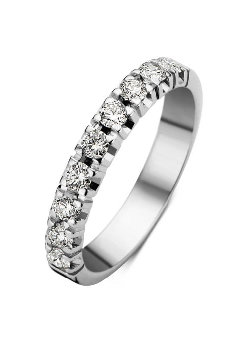 Diamond Point Groeibriljant eternity ring in 18 karat white gold, 0.45 ct.