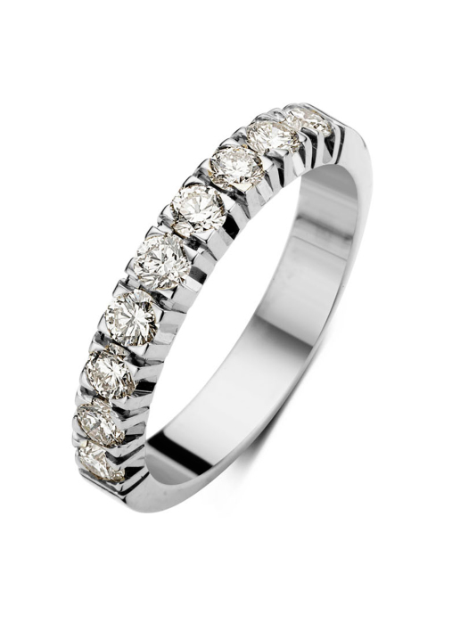 Diamond Point Groeibriljant eternity ring in 18 karat white gold, 0.63 ct.