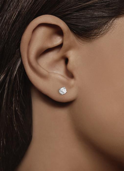 Diamond Point Geelgouden solitair oorstekers, 0.46 ct diamant, Groeibriljant