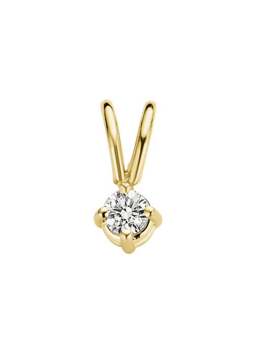 Diamond Point Groeibriljant stud pendant in 18 karat yellow gold, 0.04 ct.