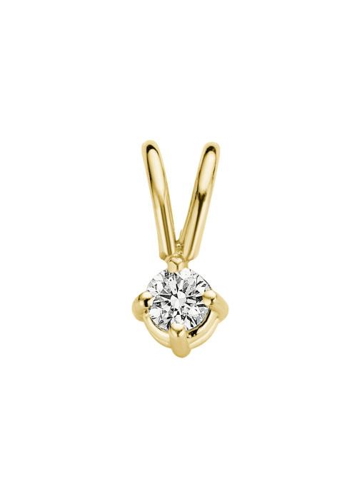 Diamond Point Groeibriljant stud pendant in 18 karat yellow gold, 0.05 ct.