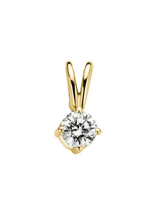Diamond Point Groeibriljant stud pendant in 18 karat yellow gold, 0.15 ct.