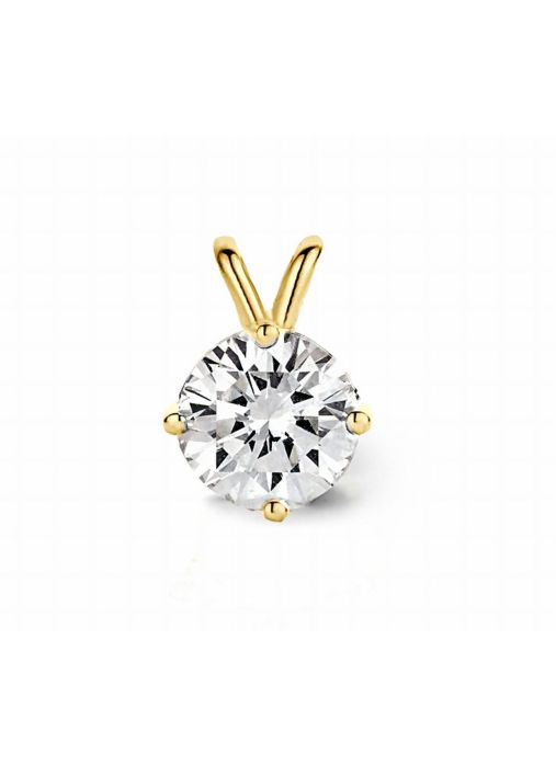 Diamond Point Geelgouden solitair hanger, 0.60 ct diamant, Groeibriljant