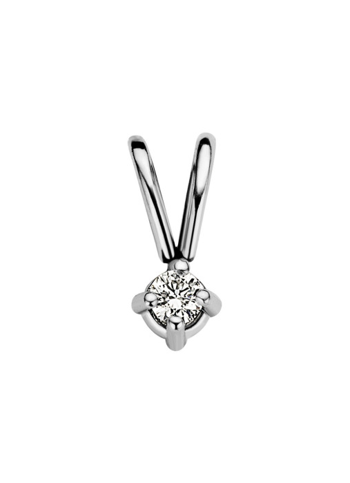 Diamond Point Groeibriljant stud pendant in 18 karat white gold, 0.02 ct.