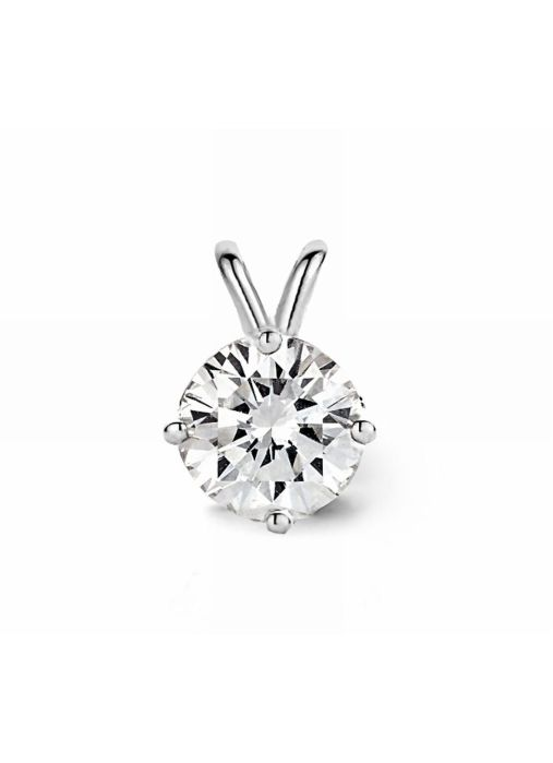 Diamond Point Witgouden solitair hanger, 0.60 ct diamant, Groeibriljant