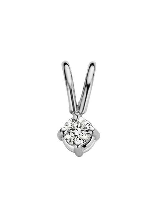 Diamond Point Witgouden solitair hanger, 0.04 ct diamant, Groeibriljant