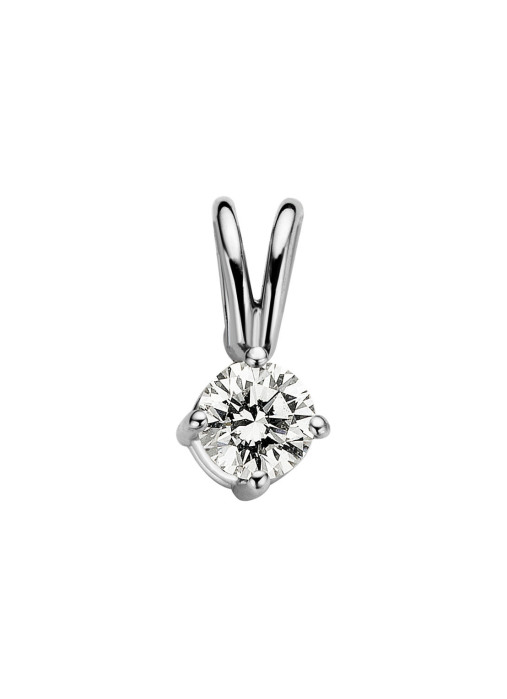 Diamond Point Groeibriljant stud pendant in 18 karat white gold, 0.14 ct.