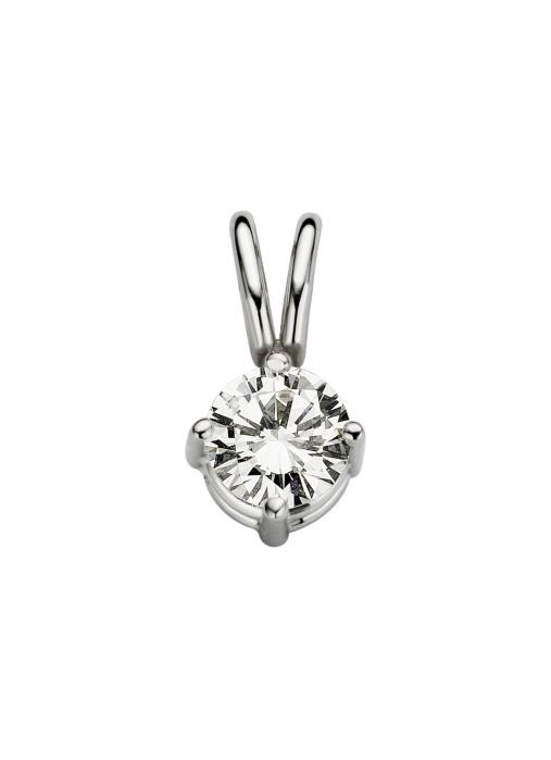 Diamond Point Groeibriljant stud pendant in 18 karat white gold, 0.23 ct.