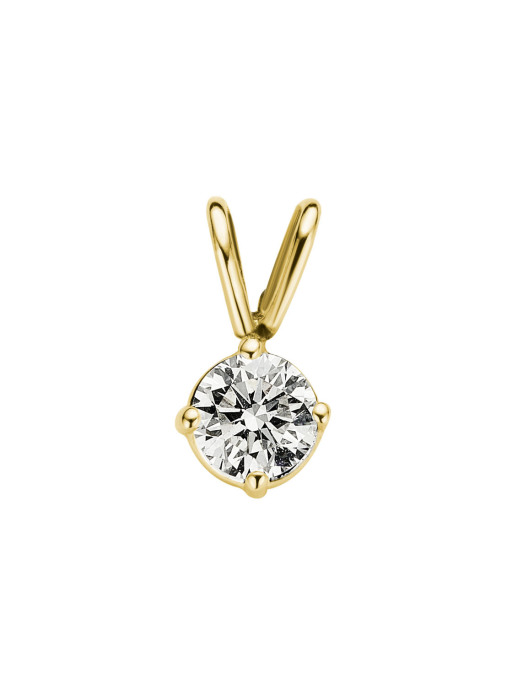 Diamond Point Groeibriljant Solitär Anhänger in 18K Gelbgold, 0.31 ct.