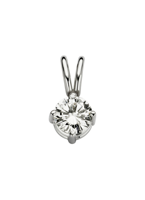 Diamond Point Groeibriljant stud pendant in 18 karat white gold, 0.27 ct.