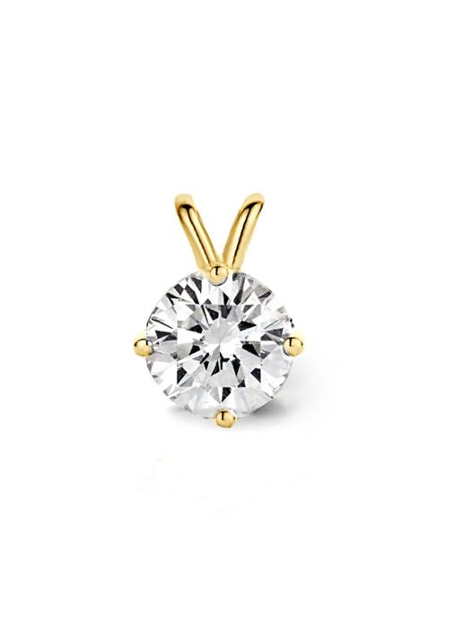 Diamond Point Geelgouden solitair hanger, 0.61 ct diamant, Groeibriljant
