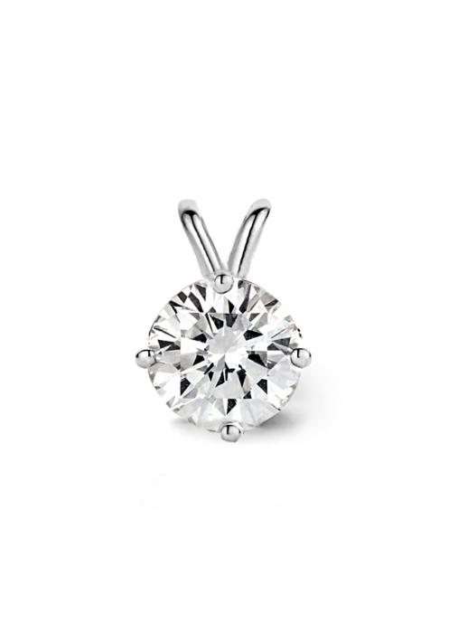 Diamond Point Witgouden solitair hanger, 0.63 ct diamant, Groeibriljant