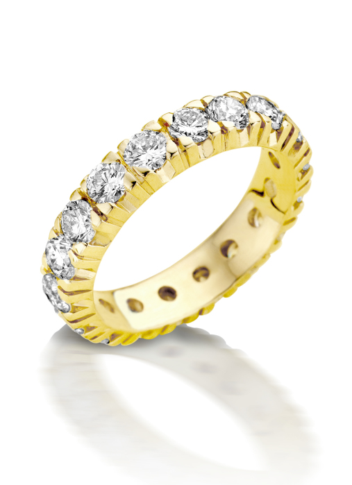 Diamond Point Geelgouden alliance groeibriljant ring, 0.52 ct. 0.52 ct diamant Groeibriljant