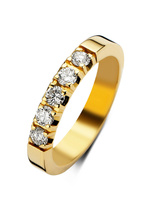 Diamond Point Groeibriljant Memoire Ring in 18K Gelbgold, 0.80 ct.
