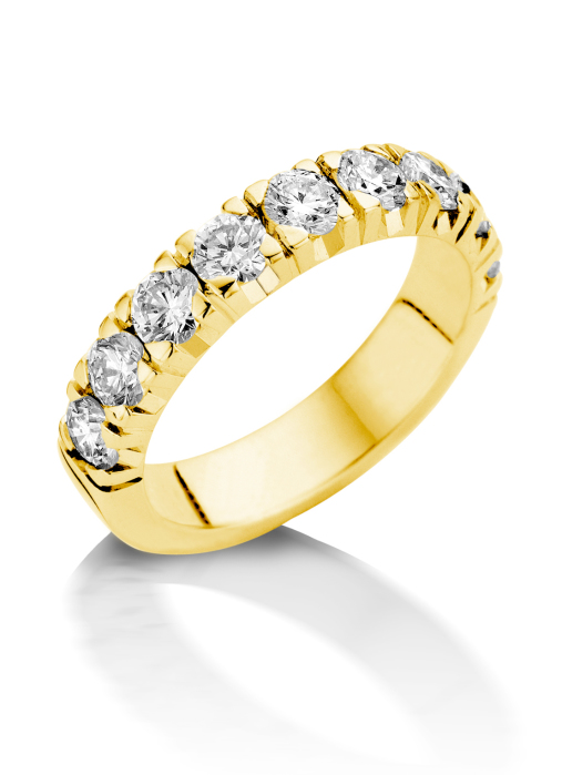Diamond Point Geelgouden alliance groeibriljant ring, 1.44 ct. 1.44 ct diamant Groeibriljant