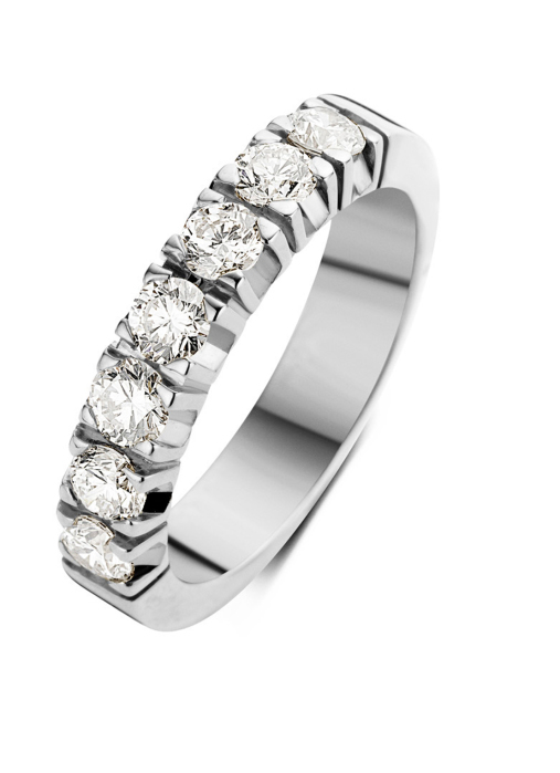 Diamond Point Witgouden alliance ring, 0.91 ct diamant, Groeibriljant