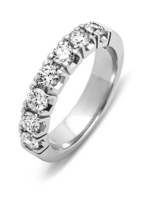Diamond Point Witgouden alliance ring, 1.12 ct diamant, Groeibriljant