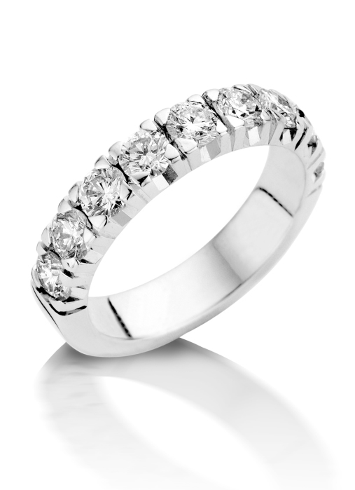 Diamond Point Witgouden alliance groeibriljant ring, 1.44 ct. 1.44 ct diamant Groeibriljant