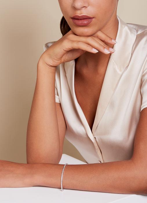 Diamond Point Tennis bracelet Armband in 14K Weißgold