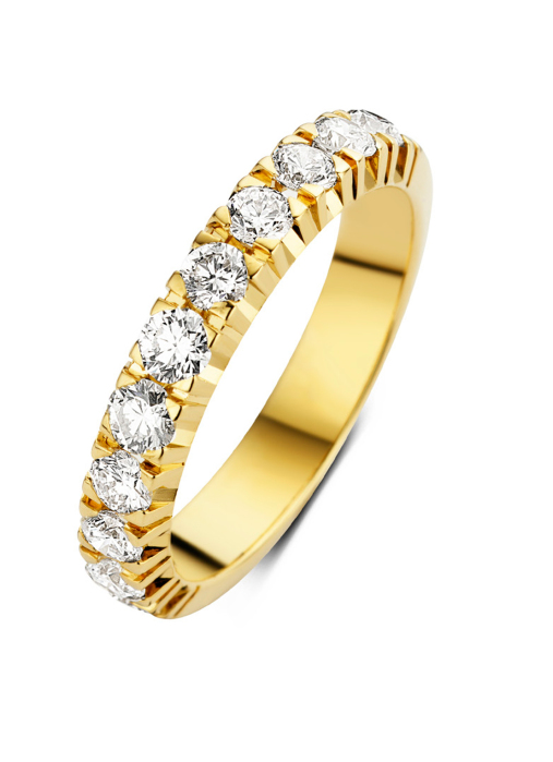 Diamond Point Groeibriljant eternity ring in 18 karat yellow gold, 1.10 ct.