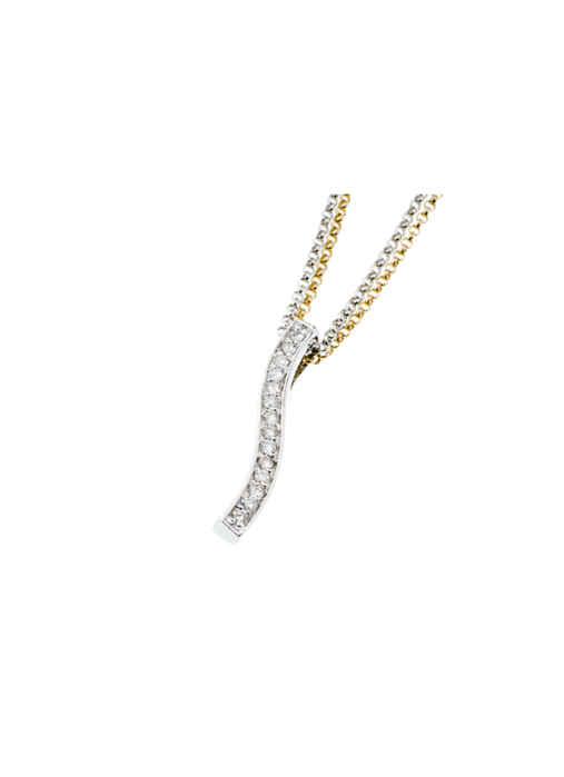Diamond Point Alliance pendant in 14 karat yellow gold