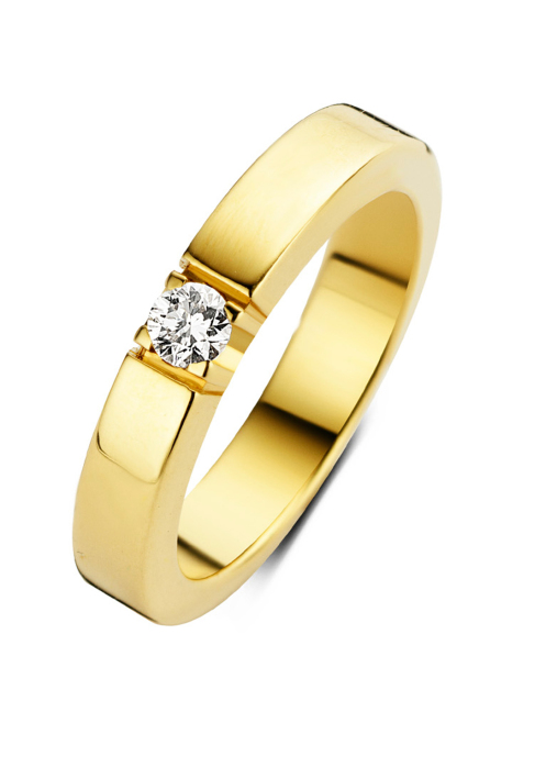 Diamond Point Groeibriljant eternity ring in 18 karat yellow gold, 0.13 ct.