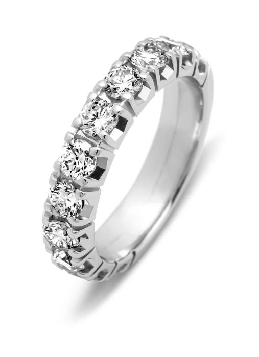 Diamond Point Witgouden alliance ring, 1.76 ct diamant, Groeibriljant