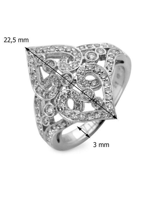 Diamond Point Since 1904 ring in 14 karat white gold