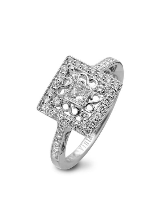 Diamond Point Witgouden ring 0.40 ct diamant Since 1904