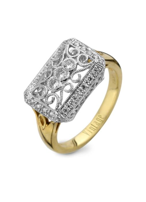Diamond Point Gouden ring, 0.31 ct diamant, Since 1904