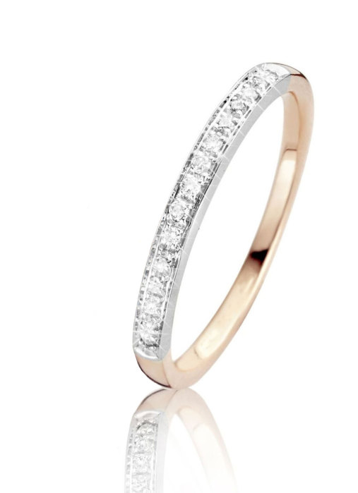 Diamond Point Gouden ring, 0.10 ct diamant, Alliance