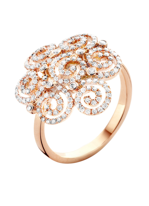 Diamond Point Roségouden ring 0.52 ct diamant Alliance