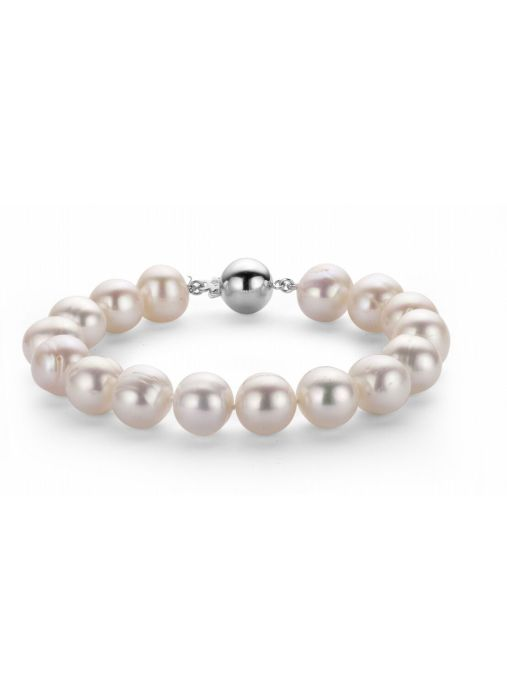 Diamond Point Pearl Armband