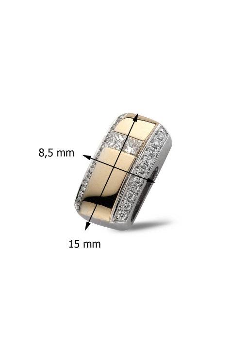 Diamond Point Alliance pendant in 14 multiple colors gold
