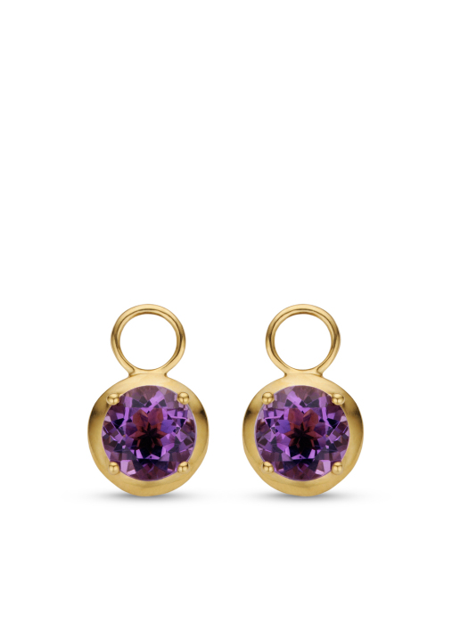 Diamond Point Colors earrings in 14 karat yellow gold